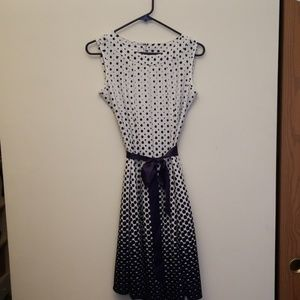 Haani Dresses - HAANI blue polka dot dress
